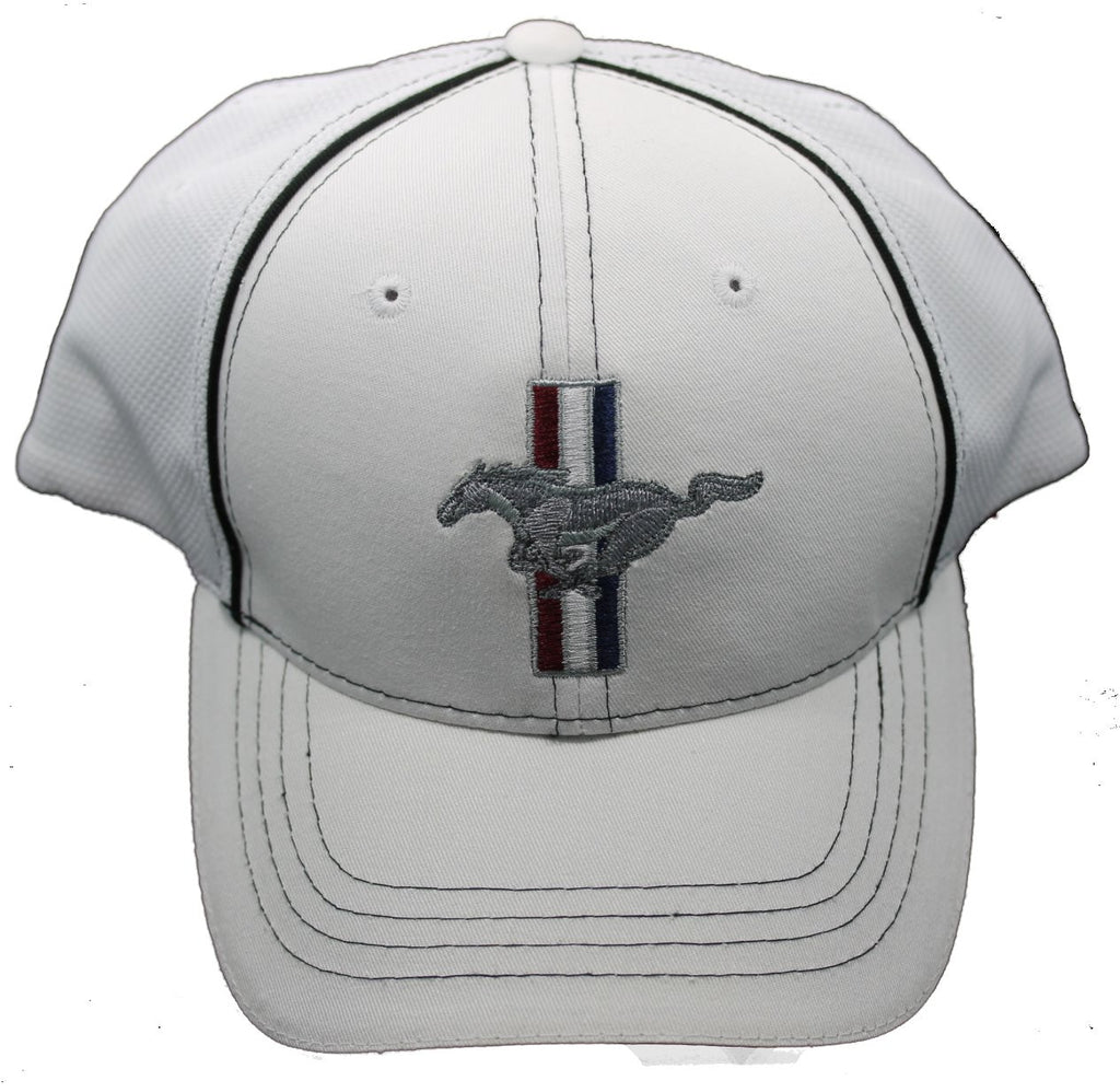 Ford Mustang flex fit hat in white
