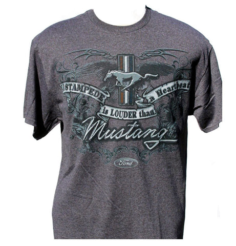 Ford mustang stampede t shirt in grey