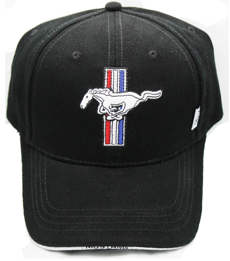 Ford Mustang tribar logo hat in black