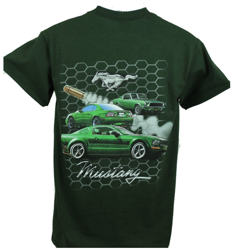 Ford mustang bullitt 3 car shirt in green