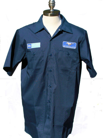 Ford mustang mechanics shirt in navy blue