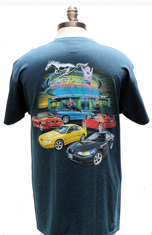 Mustang SN-95's multi car two sided shirt