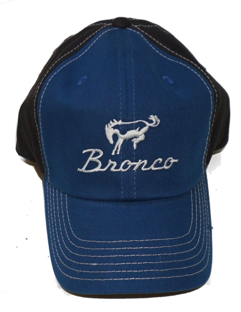Bronco two tone black and blue cap