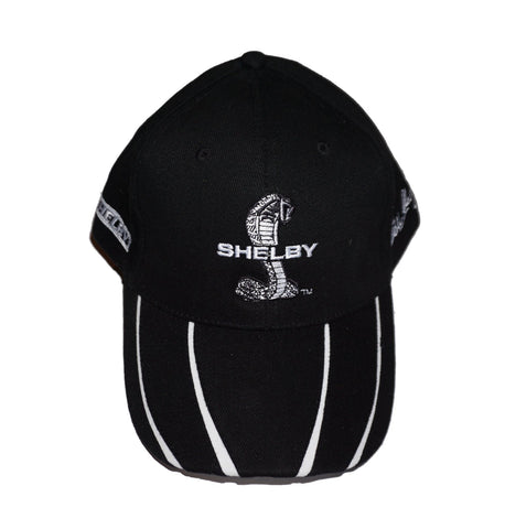 Shelby hat in black with white claws on brim
