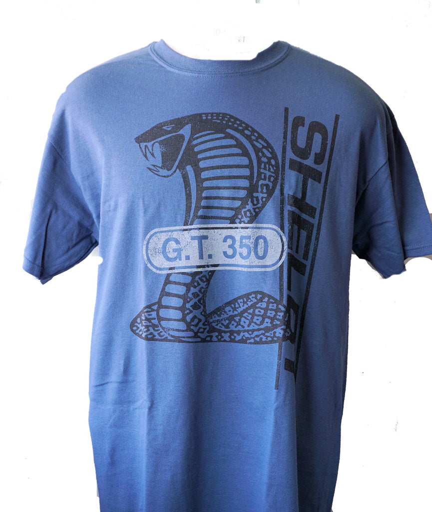Shelby GT350 t shirt in grey blue