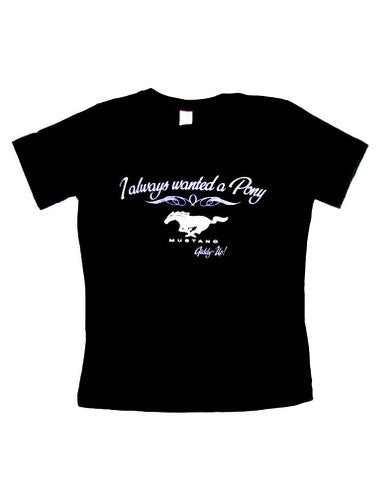 Ford Mustang ladies I always wanted a pony v-neck in black