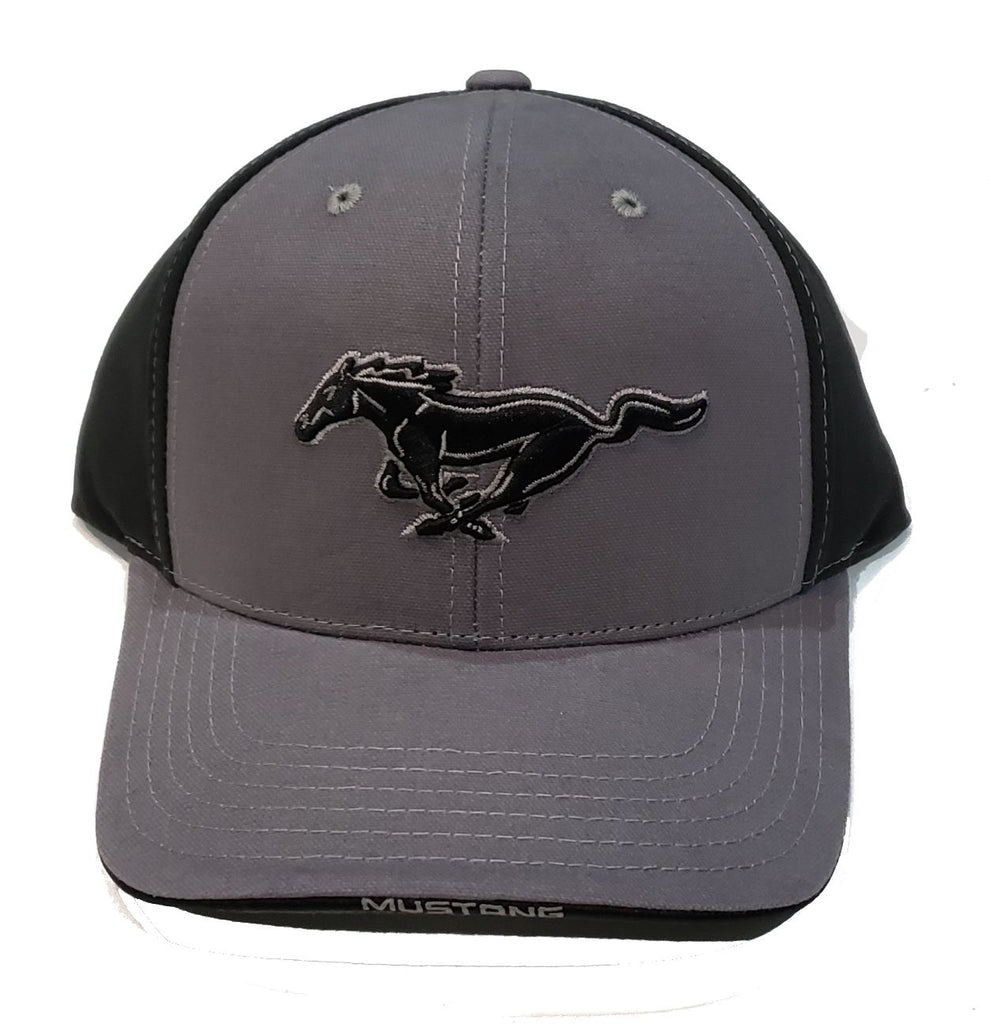Charcoal and black mustang hat