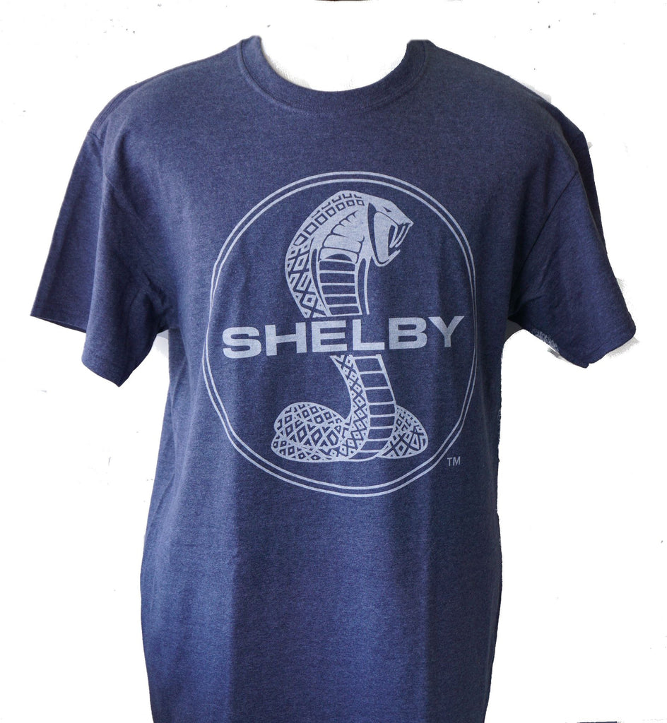 Shelby circle logo t shirt in blue-grey heather