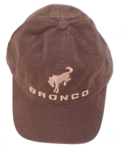 Ford Bronco brown hat with tan letters
