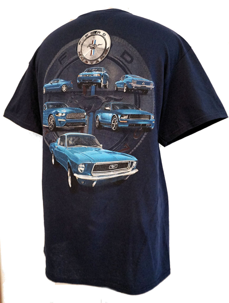 Ford mustang deep blue 6 shirt