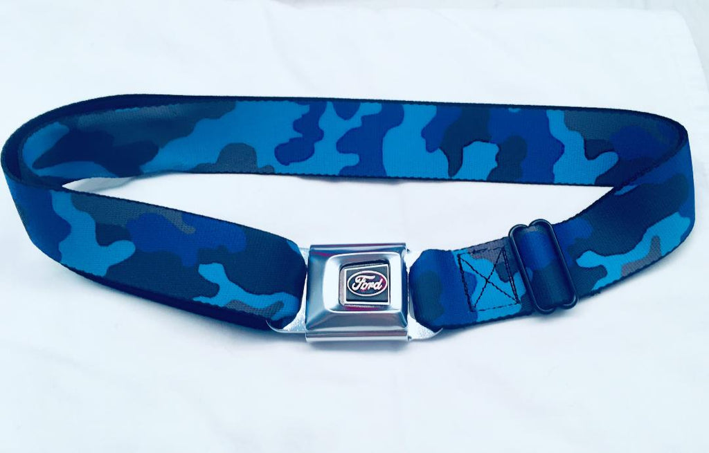 Ford custom camo belt made with real seat belt material