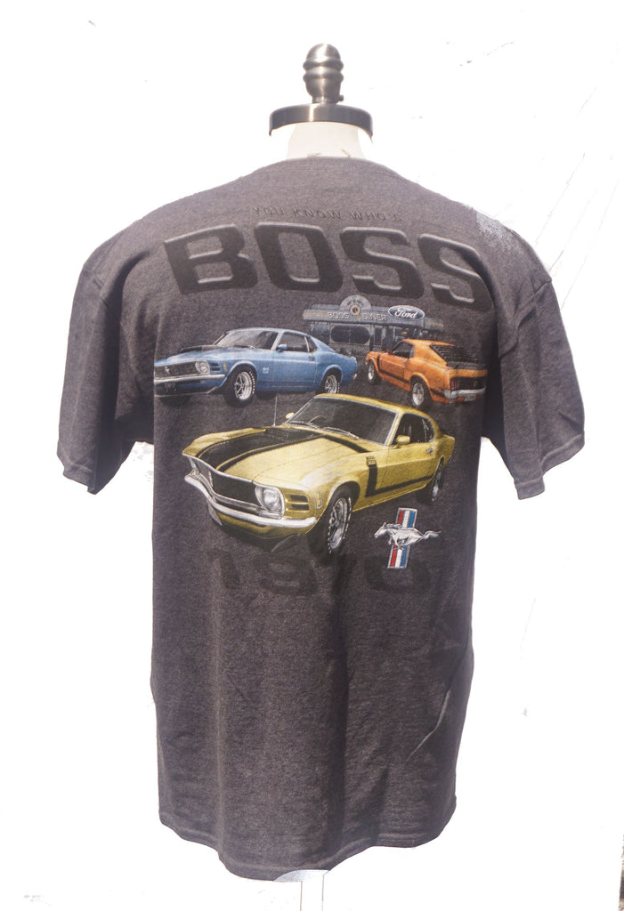 Ford mustang boss 302 1970 charcoal shirt