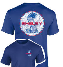 Shelby distressed logo shirt in royal blue