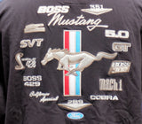 Ford Mustang zip up multi logo embroidered hoodie