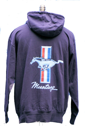 Ford Mustang zip up tribar screened hoodie