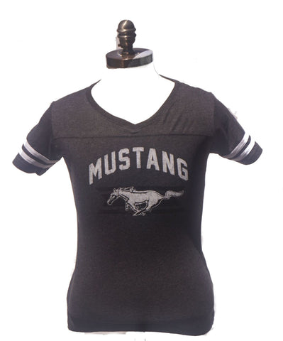 Ladies football style jersey in charcoal
