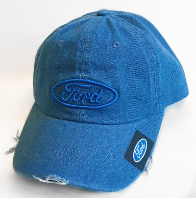 Ford demin colored distressed hat