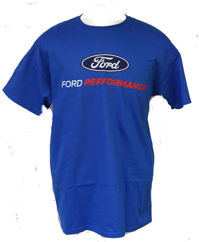 Ford performance t shirt in royal blue with oval