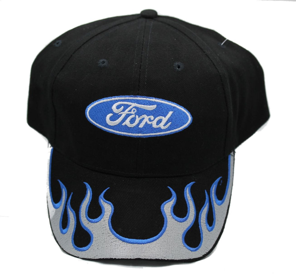 Ford Flames hat in black with silver flames
