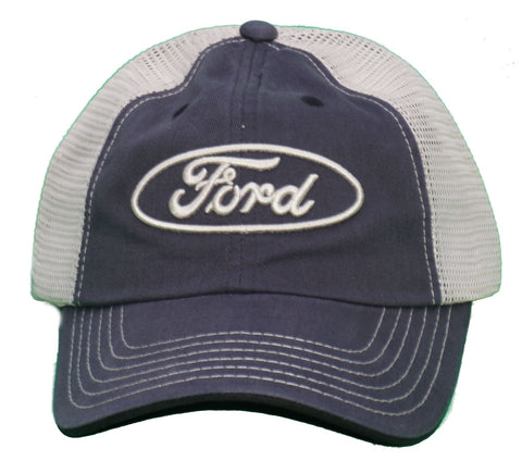 Ford blue-grey mesh back hat