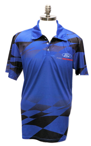Ford Performance sublimated 3-button polo shirt
