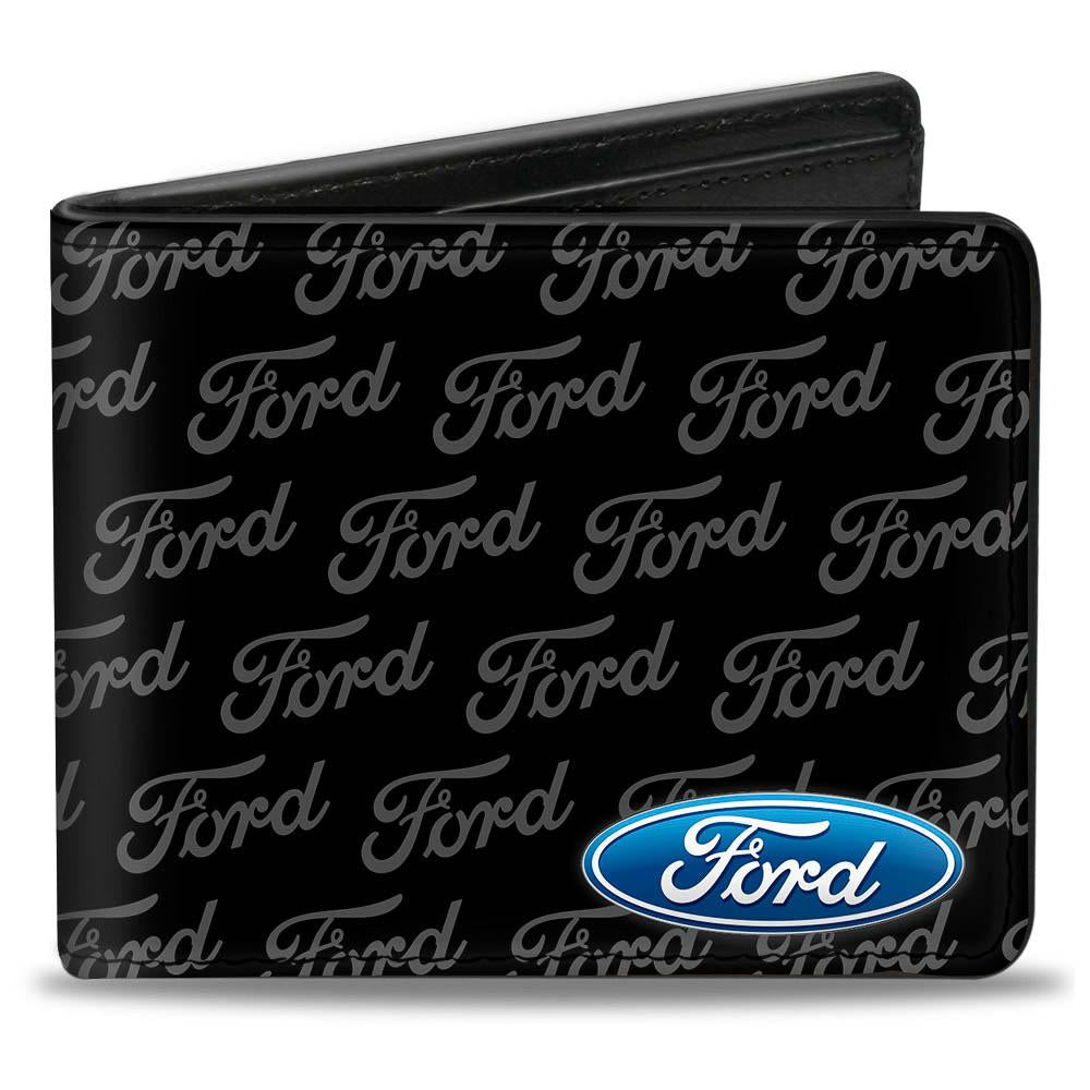 Ford bi fold wallets with ford repeat logo