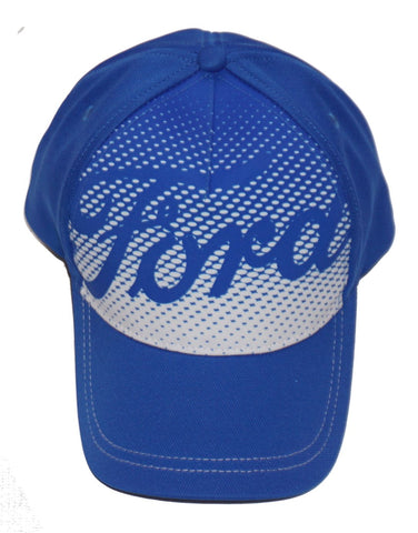 Bright blue ford hat with script