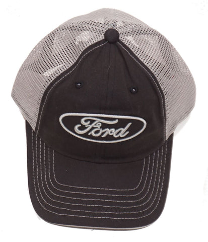 Ford charcoal and tan mesh back hat
