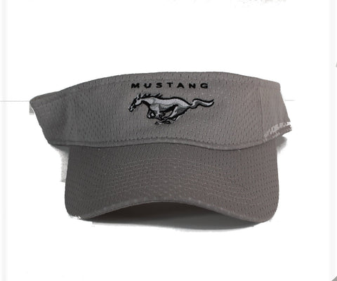 Ford Mustang Visor in grey with mesh overlay