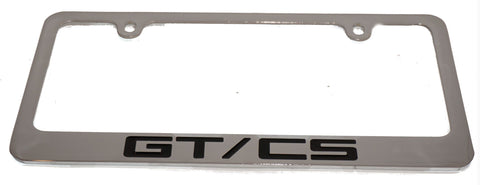Ford Mustang GT/CS license plate frame in chrome.
