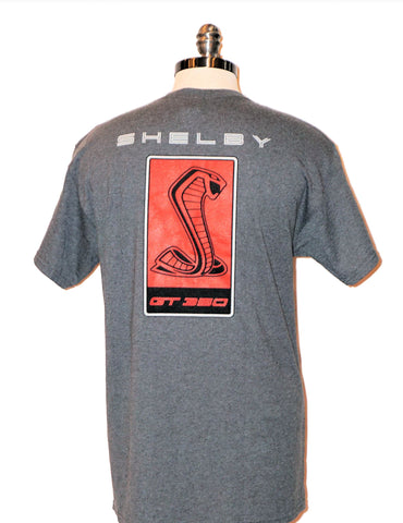 GT 350 two sided charcoal heather shirt