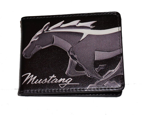 Ford Mustang Bi-Fold Wallets (horse head profile)