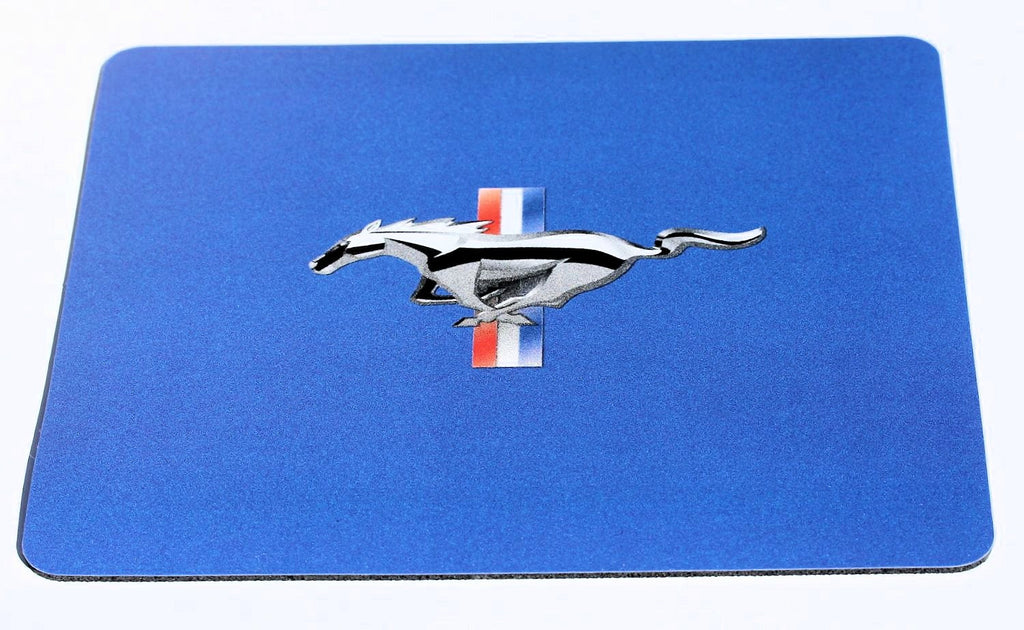 Ford Mustang mousepad with tri bar logo in royal blue