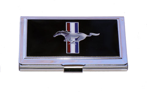 Ford Mustang business card holder with tri bar logo (large)