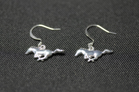 Ford Mustang sterling silver earrings