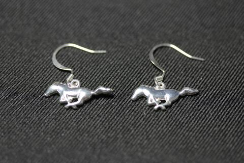 Mustang sterling silver earrings with sterling silver loops