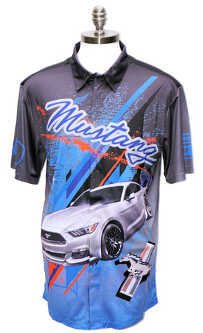 "Ford Mustang ""All Over Print"" button down shirt"