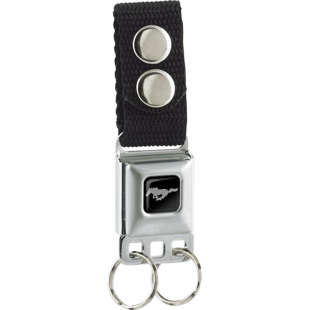 Ford Mustang seat belt keychain