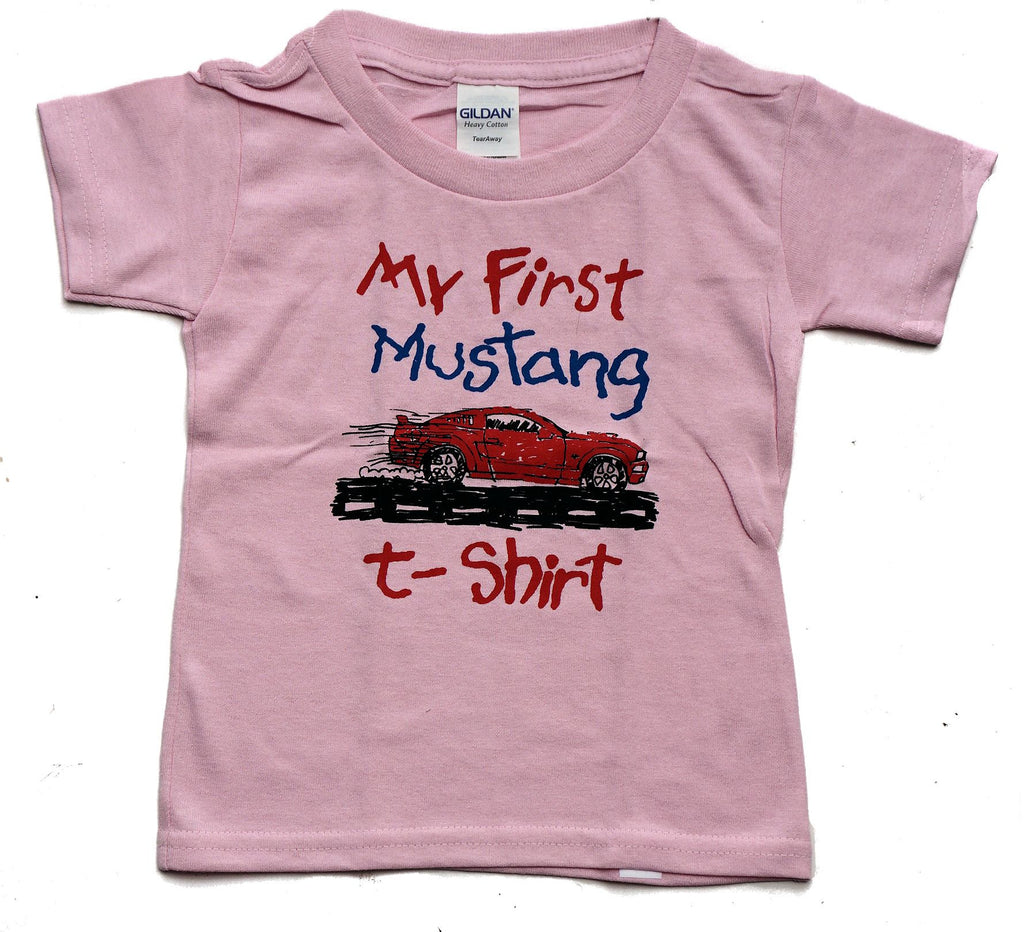 My first mustang toddler shirt in pink
