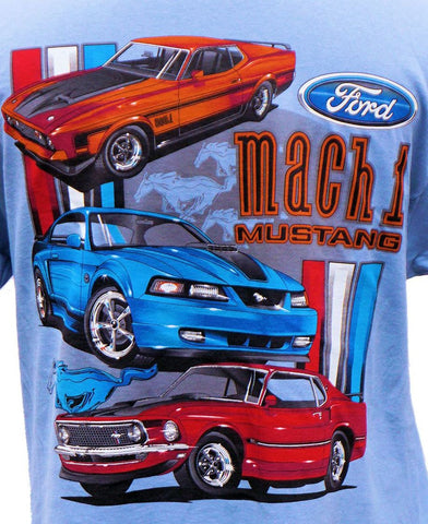 "Ford Mustang ""Mach 1"" shirt in light blue"
