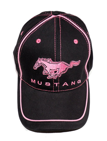 Mustang ladies black and pink hat