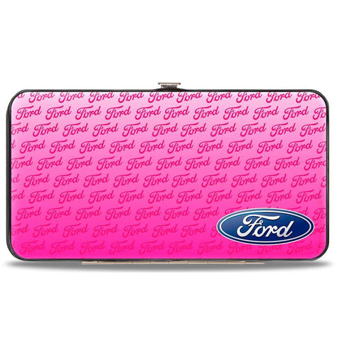 Ford ladies hinged clutch in pink