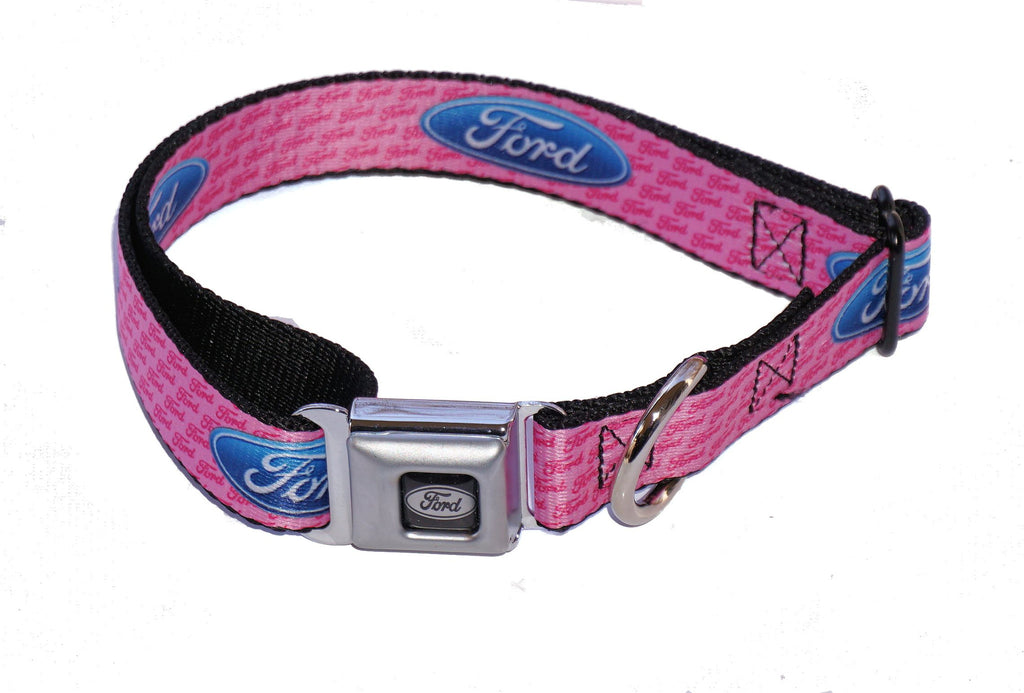 Ford dog collar in pink in 3 sizes
