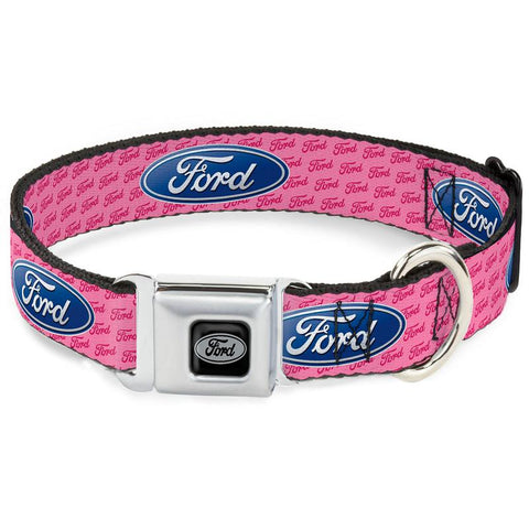 Ford dog collar in pink in 4 sizes