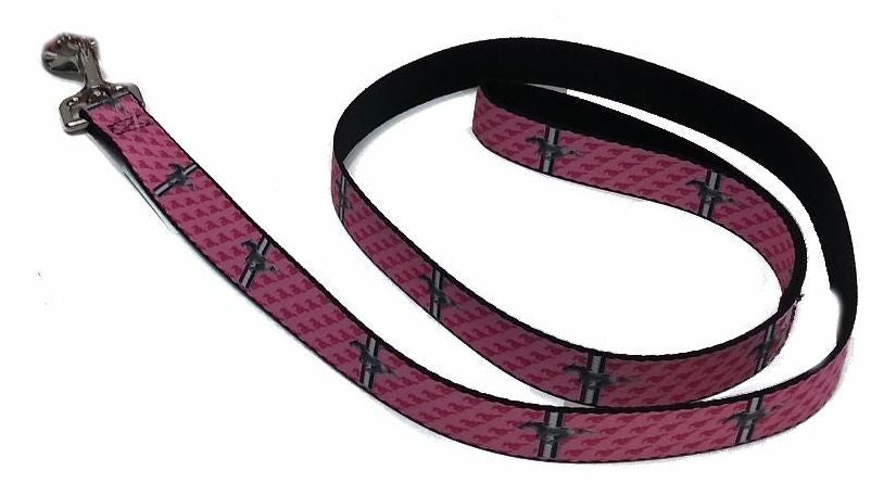 Ford mustang dog leash in pink