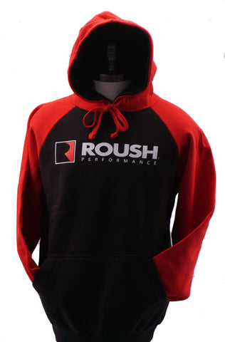 Roush Performance black and red hoodie with kangaroo pouch
