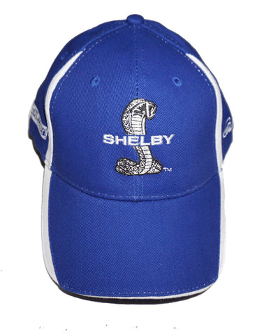 Shelby royal blue hat with white side stripes