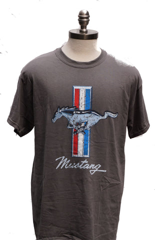 Ford Mustang distressed logo shirt