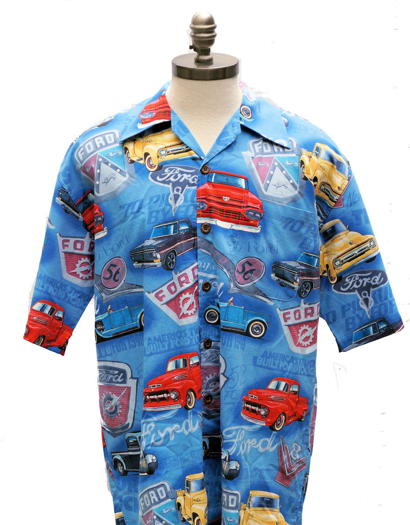 Ford vintage truck button down camp shirt