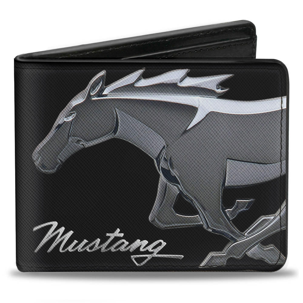 Ford mustang textured Saffiano leather wallet with horse head logo